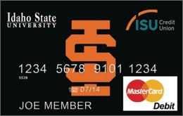 image of ISU debit card from Idaho State University Credit Union